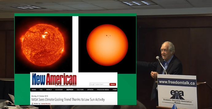 2 NASA sees Climate cooling due to sun activity