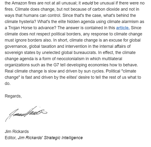 Rickards on climate change - 2