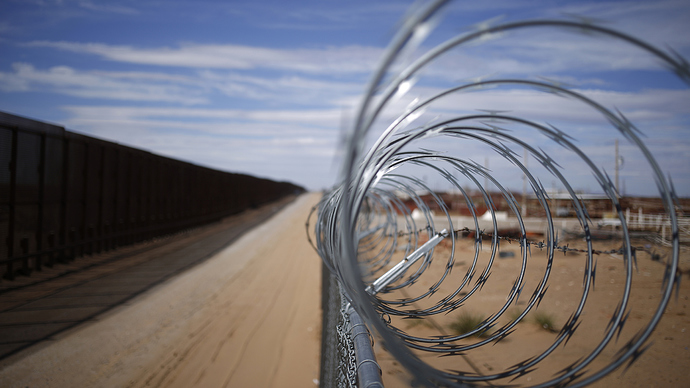 Barbed wire on the southern border