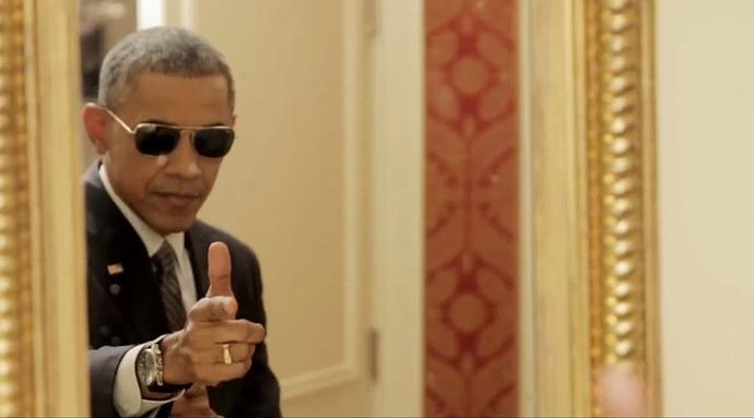 Obama finger-gun
