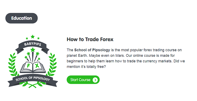 SOP How to Trade Start Course button