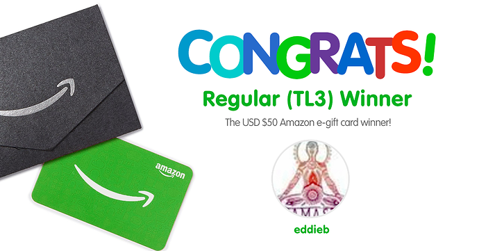 Congratulations TL3 Winner