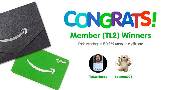 Congratulations TL2 Winners