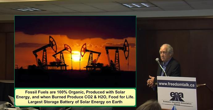 1Fossil fuels 100 pc organic