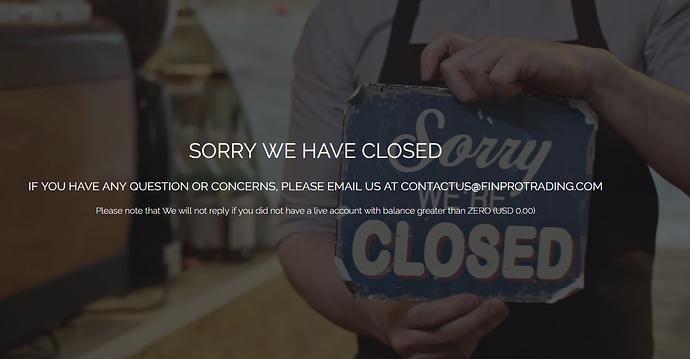 Finpro shutdown