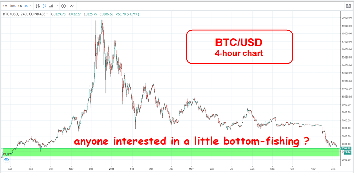 Bitcoin - bottom fishing