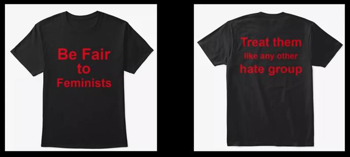 anti-feminist tee-shirt