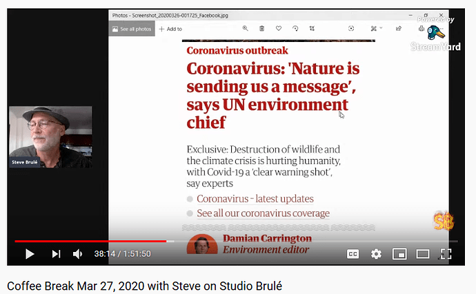 coronavirus - nature is sending us a message UN says