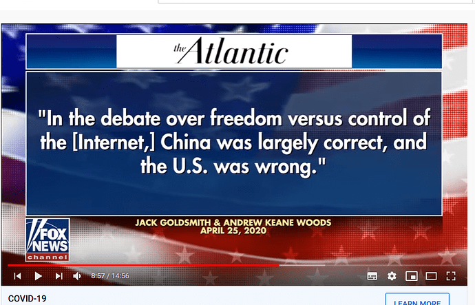 china was right usa was wrong - says they