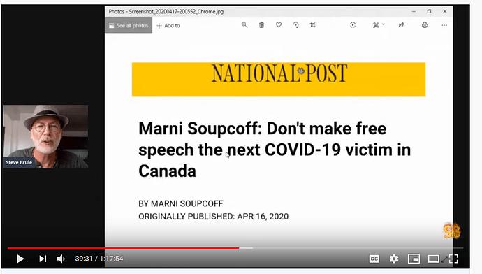 coronavirus - Don't make Free Speech the next victim