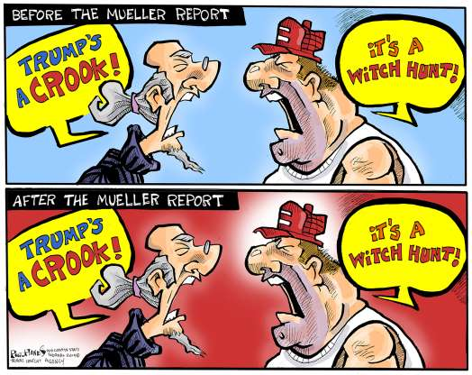 cartoon - Mueller report - 12