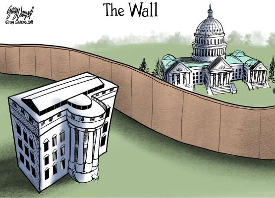 Trump wall cartoon - 1