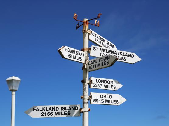 Tristan da Cunha signpost