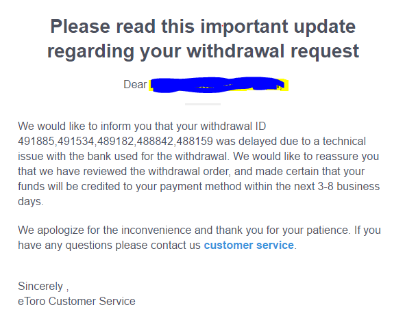 Forex withdrawal problems