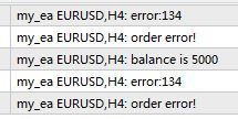 Ordersend Error 134 - Expert Advisors and Automated Trading