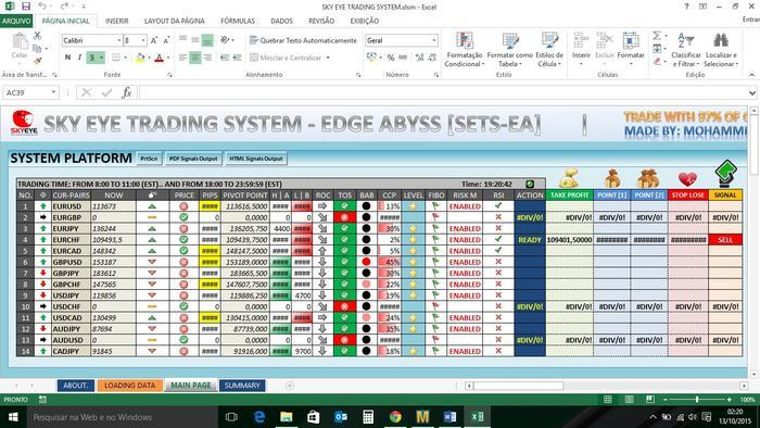 Forex pairs list excel