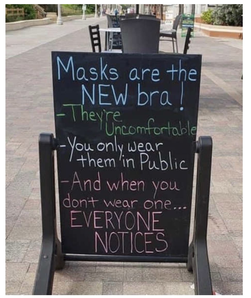 Masks are the new Bra